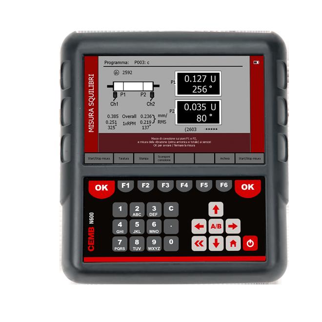 N600 Vibration analyzer and balancer equilibratore